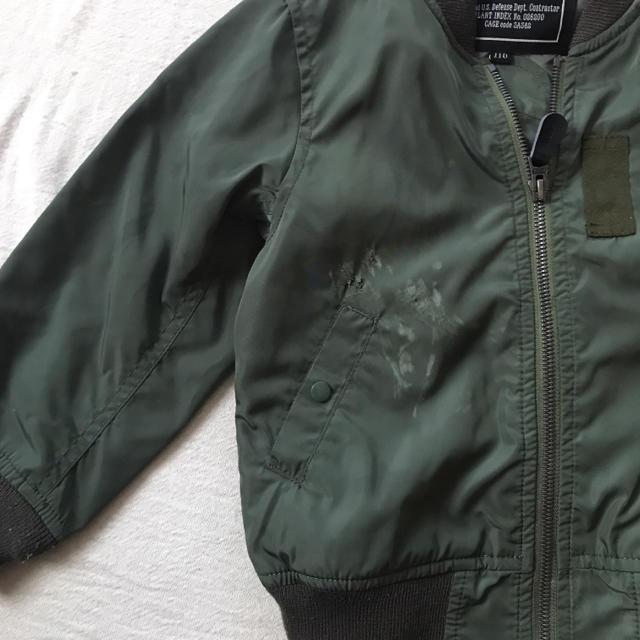 alpha(アルファ)のALPHA MA-1 ブルゾン 110 アルファ キッズ/ベビー/マタニティのキッズ服男の子用(90cm~)(ジャケット/上着)の商品写真