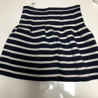 ギャップ(GAP)のひざ丈ボーダースカート✨新品未使用タグ付き✨(ひざ丈スカート)