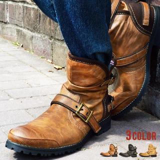 【新品】メンズ ブーツ 2wayブーツ 25~28cm 3色展開(ブーツ)