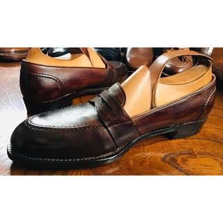 Uチップ ローファー ハンドソーンウェルト 革靴 シューズ(ローファー/革靴)