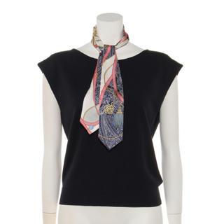 マイストラーダ(Mystrada)のMystrada スカーフ付きフレンチニット(カットソー(半袖/袖なし))