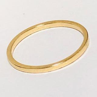 K18 シンプルデザインのリング(リング(指輪))