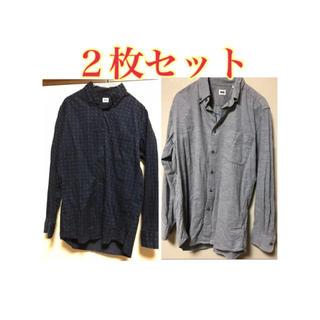 ユニクロ(UNIQLO)のUNIQLO メンズシャツ コーデュロイ  2点セット M(シャツ)