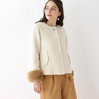 クチュールブローチ(Couture Brooch)の値下げ 新品未使用【3WAY】ファーシャギーショートコート(毛皮/ファーコート)