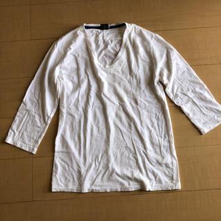 ビューティアンドユースユナイテッドアローズ(BEAUTY&YOUTH UNITED ARROWS)のBEAUTY&YOUTH 【ビューティアンドユース】7分丈 トップス ホワイト(Tシャツ(半袖/袖なし))