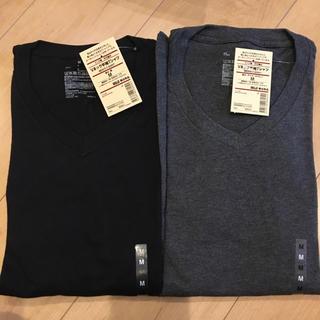 ムジルシリョウヒン(MUJI (無印良品))の無印良品 紳士  Vネック半袖Tシャツ M(Tシャツ/カットソー(半袖/袖なし))