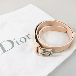 ディオール(Dior)のDior ディオール 本革レザーベルト  パステルピンク ベビーピンク(ベルト)