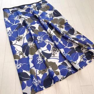 ジュンコシマダ(JUNKO SHIMADA)のAWAW BY ジュンコシマダ フラワープリントスカート 64-89(ひざ丈スカート)
