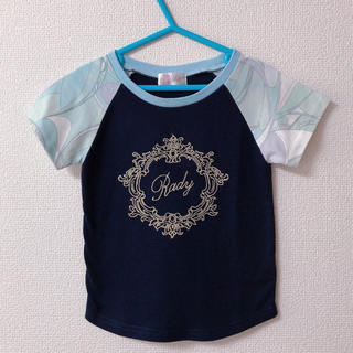 レディー(Rady)のちびRady☆シャボンマーブル フレームRady Tシャツ 90(Tシャツ/カットソー)