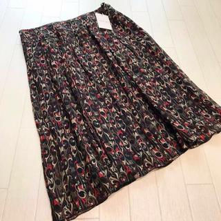 インディヴィ(INDIVI)の新品 INDIVI シフォンプリントスカート 40(ひざ丈スカート)