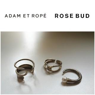 アダムエロぺ(Adam et Rope')のROSE BUD パール調リング ADAM ET ROPE'ダブルクロスリング(リング(指輪))
