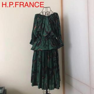 アッシュペーフランス(H.P.FRANCE)のH.P.FRANCE セットアップ 新品タグ付き(ひざ丈ワンピース)