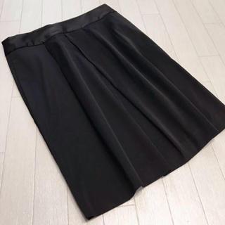 バナナリパブリック(Banana Republic)のバナナリパブリック 光沢素材 タックタイトスカート 4(ひざ丈スカート)