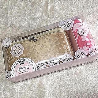 ハナエモリ(HANAE MORI)の新品❤️ハナエモリ バニティポーチ&ミニタオルセット(ポーチ)