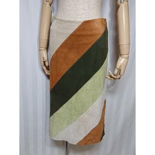 ギャップ(GAP)の「GAP」④色マルチ!天然山羊レザー素材の素敵スカート(ひざ丈スカート)
