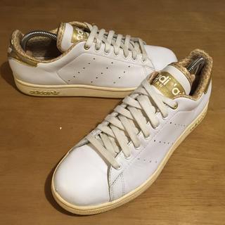 アディダス(adidas)の24.5アディダススタンスミス2白×金(スニーカー)