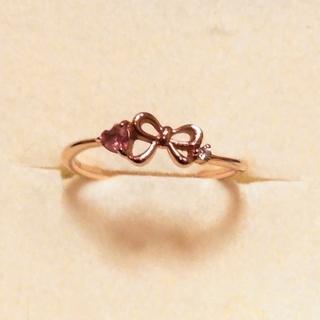サマンサティアラ(Samantha Tiara)のサマンサティアラ K18 ダイアモンド 色石リング(リング(指輪))