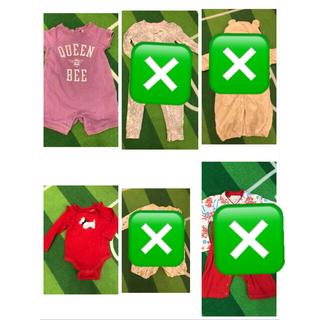 ベビーギャップ(babyGAP)の冬物ベビー服 60から70 まとめ売り(ロンパース)