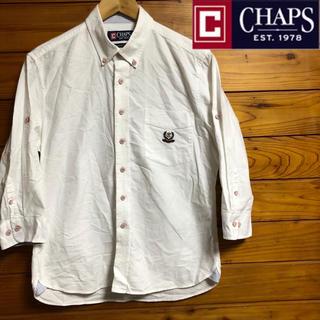 CHAPS - レア CHAPS Ralph Lauren  七分袖 ボタンダウンシャツ