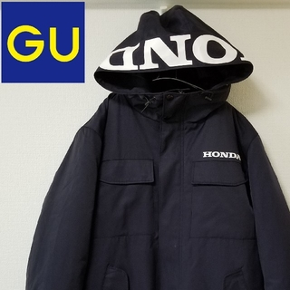 GU - HONDA × GU 中綿ダウン 中綿コート ネイビー