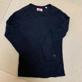 ハリウッドランチマーケット(HOLLYWOOD RANCH MARKET)のHRM ハリウッドランチマーケット ロンT 長袖 ブラック 黒(Tシャツ(長袖/七分))