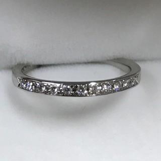 ヨンドシー(4℃)の【美品】最終お値下げです!4℃ Pt950 ダイヤモンドハーフエタニティリング (リング(指輪))