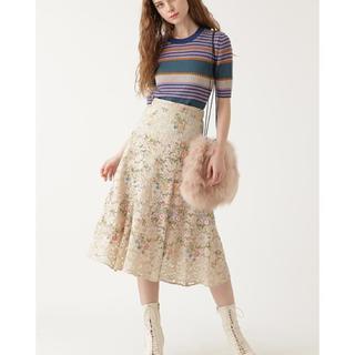 ジルスチュアート(JILLSTUART)のジルスチュアート レース刺繍スカート(ロングスカート)