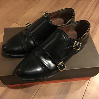 アーバンリサーチ(URBAN RESEARCH)のReene/ABERDEEN 黒ダブルモンクシューズ  アーバンリサーチ(ローファー/革靴)