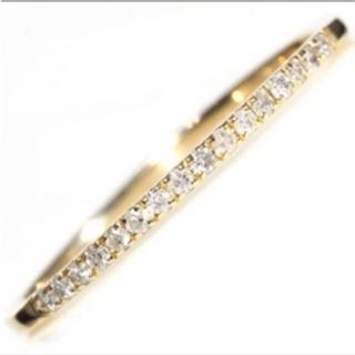 アーカー(AHKAH)の新品❤️18金 ダイヤモンド ハーフエタニティ リング 指輪 K18(リング(指輪))