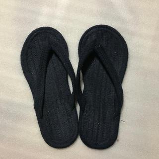 MUJI (無印良品) - 無印良品 紺色草履 LLサイズ