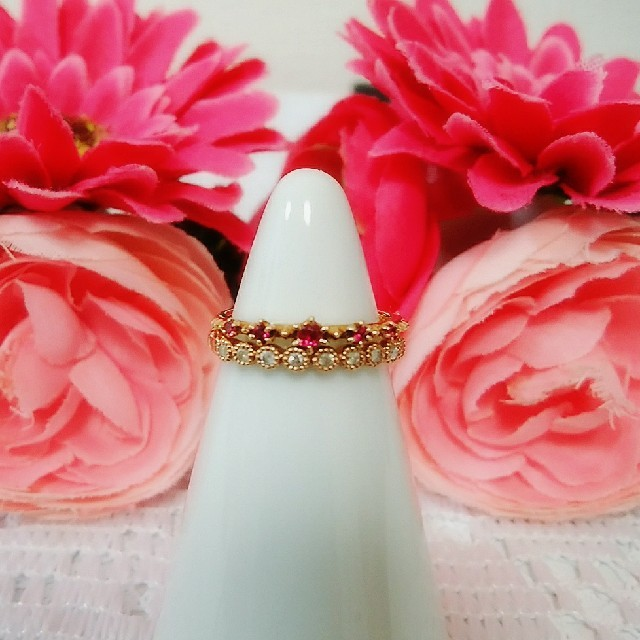 NOJESS(ノジェス)のノジェス♡K10 ルビー リング レディースのアクセサリー(リング(指輪))の商品写真