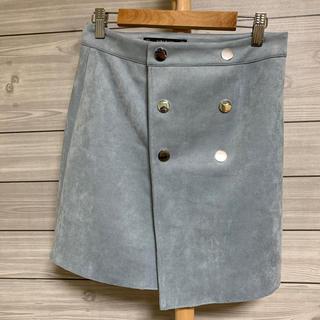 ザラ(ZARA)のシルバーのボタンが素敵! ZARA スカート(ミニスカート)