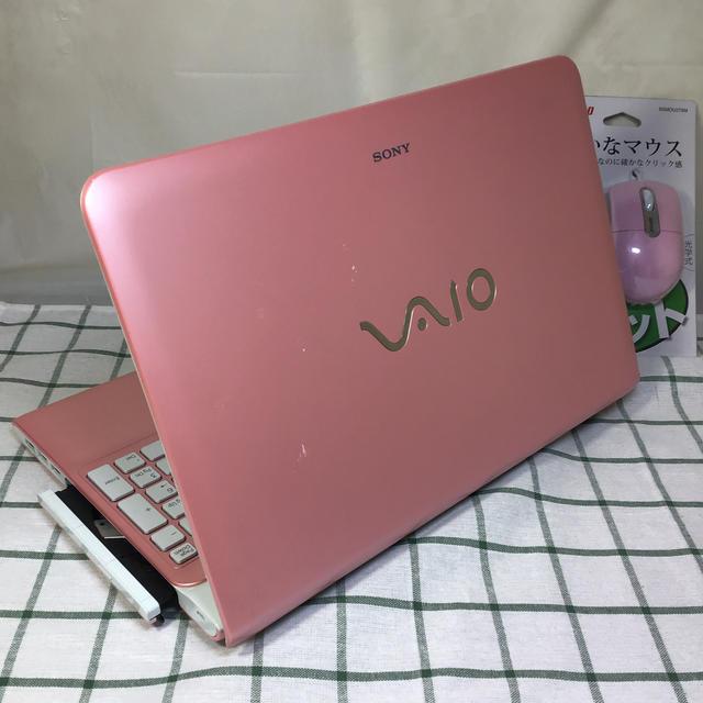 SONY(ソニー)のVAIO ピンク windows10 officew2016 スマホ/家電/カメラのPC/タブレット(ノートPC)の商品写真