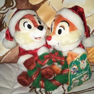 チップアンドデール(チップ&デール)の⭐️Disney⭐️チップ&デールクリスマスぬいぐるみ(ぬいぐるみ)