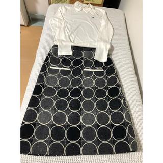 ミナペルホネン(mina perhonen)のミナペルホネン ウールスカート&襟つきトップス(ひざ丈スカート)