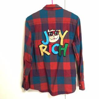 ジョイリッチ(JOYRICH)のJOYRICH ジョイリッチ チェック シャツ 長袖 刺繍 赤 レッド カラフル(シャツ/ブラウス(長袖/七分))