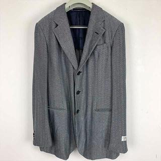 アルマーニ コレツィオーニ(ARMANI COLLEZIONI)のARMANI COLLEZIONI シックな黒とグレー斜め縦縞ジャケット75%引(テーラードジャケット)