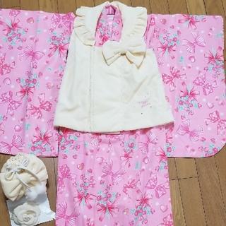 メゾピアノ(mezzo piano)のメゾピアノ☆七五三 三歳 着物 被布セット 3歳 女の子(和服/着物)