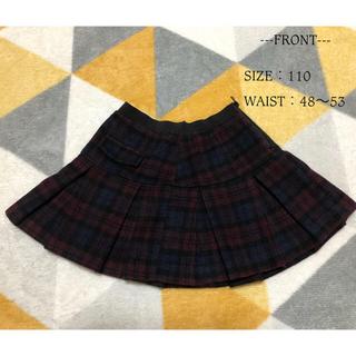 ジーユー(GU)のGU 110size チェックフレアスカート(スカート)