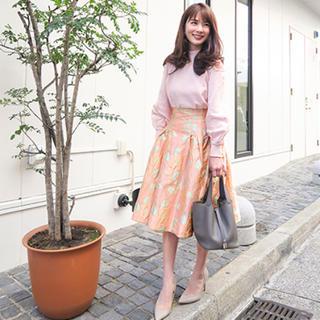 チェスティ(Chesty)のチェスティ フラワージャガードスカート ピンク サイズ1(ひざ丈スカート)