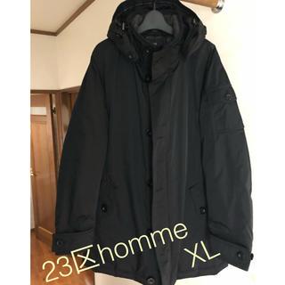 ニジュウサンク(23区)の23区HOMMEメンズダウンコートビジネスコート黒 48 XLくらい(ダウンジャケット)