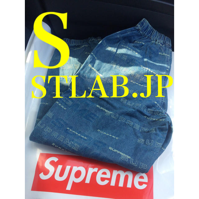 Supreme(シュプリーム)のブルー S Supreme Dimensions Logo デニムパンツ メンズのパンツ(その他)の商品写真