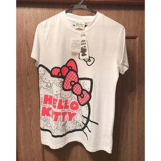 ハローキティ(ハローキティ)のHELLOW KITTY  Tシャツ  Lサイズ 新品未使用 ☆(Tシャツ(半袖/袖なし))