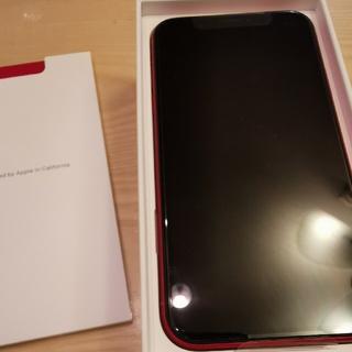 ジャスミン様専用 新品未使用iphonexrレッド128Gシムフリー(スマートフォン本体)