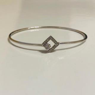 ポンテヴェキオ(PonteVecchio)の美品 ポンテヴェキオ、 K18WG ダイヤモンド バングル ブレスレット(ブレスレット/バングル)