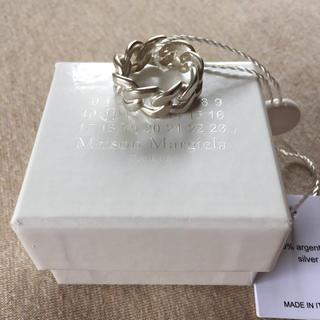 マルタンマルジェラ(Maison Martin Margiela)のM新品 マルジェラ シルバー チェーンリング 指輪 18SS(リング(指輪))
