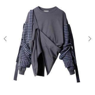 ルシェルブルー(LE CIEL BLEU)のギンガムスリーブ デザイン トップス(シャツ/ブラウス(半袖/袖なし))