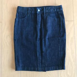 ギャップ(GAP)の美品 GAP デニム スカート 23(ひざ丈スカート)
