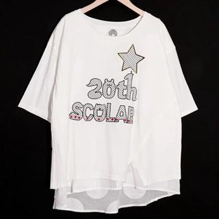 スカラー(ScoLar)のscolar 新品タグ付き  20th刺繍切替プルオーバー(Tシャツ(半袖/袖なし))