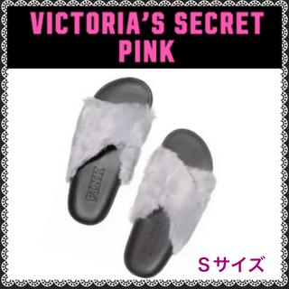 ヴィクトリアズシークレット(Victoria's Secret)のPINK  ファーサンダルS(サンダル)